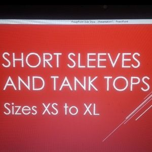 Tops - Tank and short sleeve tops